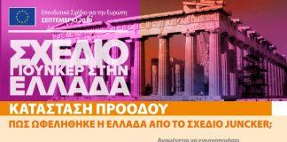Σχέδιο Γιούνκερ: Στην 1η θέση η Ελλάδα στην ενεργοποίηση επενδύσεων σε σχέση με το ΑΕΠ
