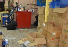 Παράνομο εργαστήριο παρασκευής και εμφιάλωσης αλκοολούχων ποτών στη Θεσσαλονίκη