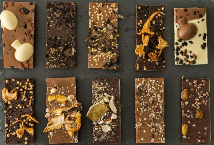 Σοκολάτες με άγρια μανιτάρια και ελαιόλαδο από το Μουσείο Μανιταριών στα Μετέωρα