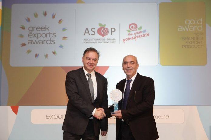 Χρυσό βραβείο για τον «ΑΣΟΠ-Το Ελληνικό Ρόδι» στα Greek Exports Awards