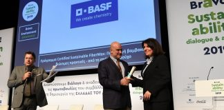 Διάκριση της BASF Ελλάς ΑΒΕΕ στα βραβεία βιώσιμης ανάπτυξης BRAVO 2019