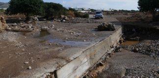 Εκτεταμένη καθίζηση εδάφους σε αγροτική έκταση στην Ελασσόνα