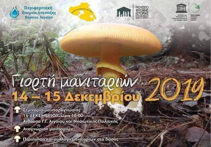 Η γιορτή των Μανιταριών 14-15 Δεκεμβρίου στη Λέσβο