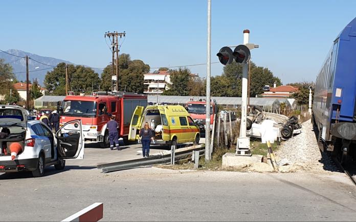 Τραυματισμός οδηγού αυτοκινήτου που παρέσυρε αμαξοστοιχία στο Κιλελέρ
