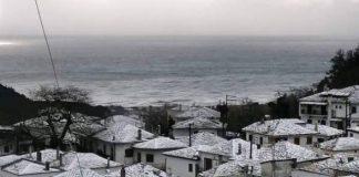 Χιόνια σε Καβάλα, Νέστο, Θάσο και Παγγαίο - «Άσπρισε» όλος ο νομός