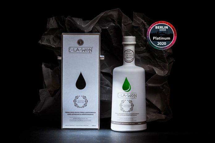 H E-LA-WON στα elite olive oils του κόσμου με Platinum Award