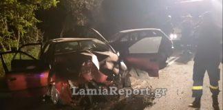 Διπλό τροχαίο από αγριογούρουνο στη Στυλίδα - Εγκλωβίστηκε οδηγός στις λαμαρίνες