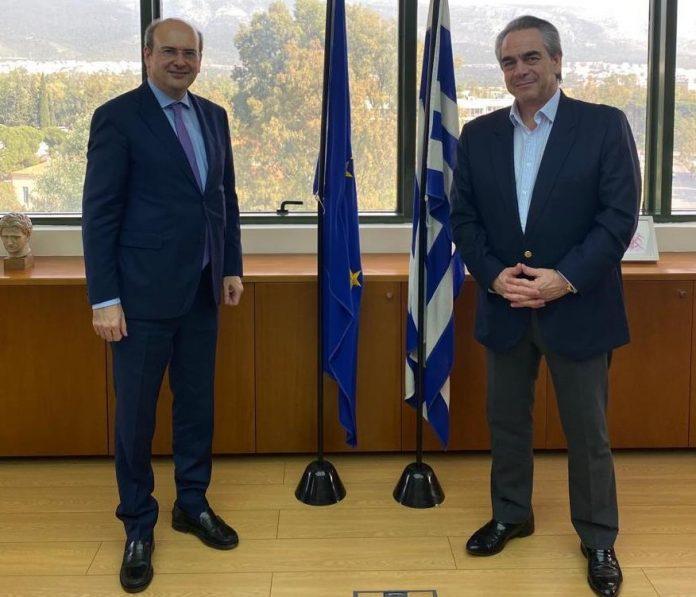 Συνάντηση Κ. Χατζηδάκη με τον Κ. Μίχαλο για την χωροθέτηση επιχειρήσεων