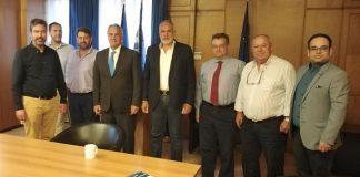 Ο Ιωάννης Φασουλάς πρόεδρος της Ένωσης Εμπόρων Κρέατος - Συνάντηση με τον Μ. Βορίδη