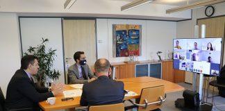 Συνάντηση εργασίας του Απόστολου Τζιτζικώστα, με την ηγεσία της Ευρωπαϊκής Τράπεζας Επενδύσεων