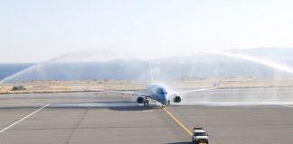Με αψίδες νερού η υποδοχή των πρώτων πτήσεων στα περιφερειακά αεροδρόμια