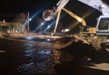 Δύσκολη νύχτα για τους κατοίκους της Θάσου λόγω της καταρρακτώδους βροχής