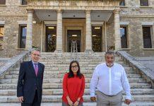 Ο Πρέσβης των Η.Π.Α. και η νέα Γενική Πρόξενος στην Αμερικανική Γεωργική Σχολή
