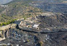 Οι πρώτες εικόνες της επόμενης μέρας από την φωτιά στις Μυκήνες