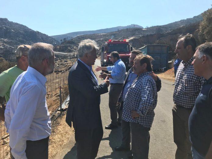 ΥΠΑΑΤ: Σημαντικές οι ζημιές σε φυτικό και ζωικό κεφάλαιο στη Μάνη από τις πυρκαγιές
