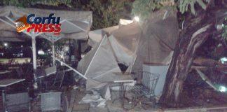 Καταστροφές από ανεμοστρόβιλο στην πλατεία της Κέρκυρας και την Γαρίτσα