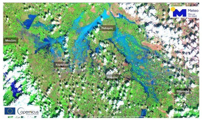 Πάνω από 210.000 στρέμματα κάτω από το νερό στον θεσσαλικό κάμπο