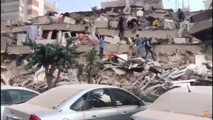 Σεισμός στη Σάμο: Κατέρρευσαν κτίρια στη Σμύρνη (βίντεο)