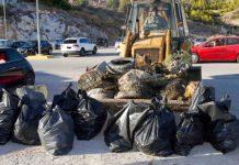 Μάζεψαν 212 κιλά σκουπίδια από το βυθό της Πάχης Μεγάρων