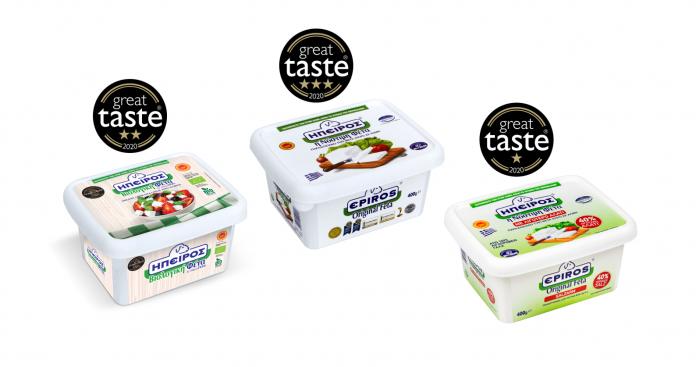 Τριπλή διάκριση για τα προϊόντα Φέτας ΠΟΠ της ΗΠΕΙΡΟΣ στα φετινά Great Taste Awards