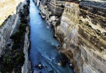 Συνεχίζονται οι εργασίες αποκατάστασης στον Ισθμό της Κορίνθου μετά τις κατολισθήσεις