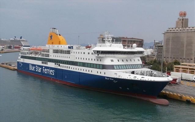 Στο λιμάνι της Κάσου, προσέκρουσε ελαφρά κατά της διαδικασία πρόσδεσης, το επιβατηγό οχηματαγωγό πλοίο
